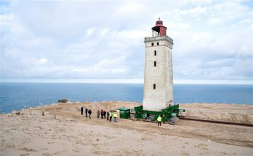 lighthouse moved from eroding coast denmark video, lighthouse moved from eroding coast denmark video october 2019