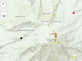 mount rainier news, why is mount rainier jolting, earthquake mount rainier,mount rainier earthquake swarm october 2019, mount rainier earthquake swarm october 28-30 2019