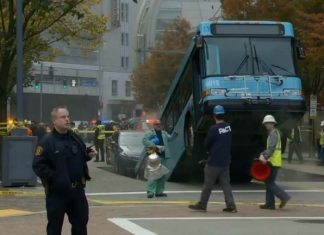 pittsburgh sinkhole bus, pittsburgh sinkhole bus video, pittsburgh sinkhole bus pictures, pittsburgh sinkhole bus october 28 2019