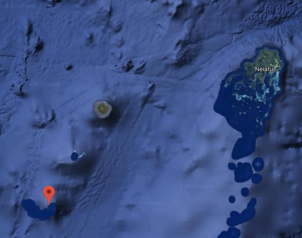 Location of Metis Shoal Volcano in Tonga