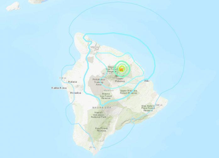 M4.9 earthquake hits Mauna Kea on Hawaii's Big Island on November 11 2019