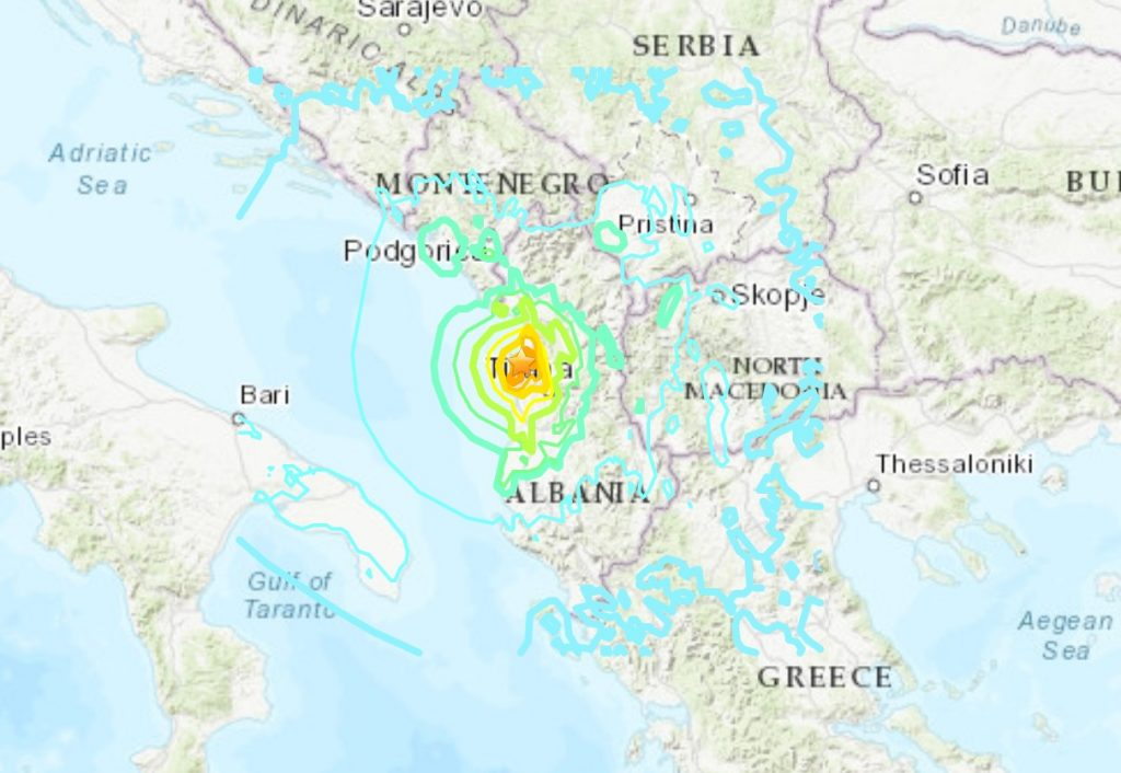 M6.4 earthquake Albania, M6.4 earthquake Albania map, M6.4 earthquake Albania video, M6.4 earthquake Albania pictures