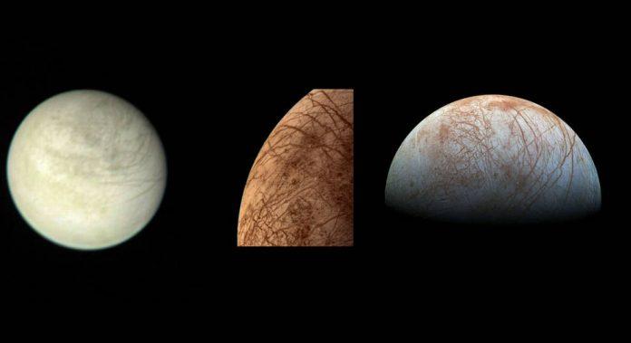 europa water vapor, jupiter moon europa water vapor, europa water vapor jupiter, Scientists have discovered water vapor on the surface of Europa