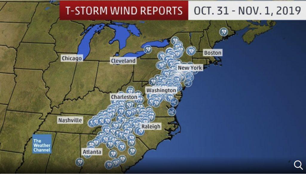 halloween storm us east coast 2019, halloween storm us east coast 2019 video, halloween storm us east coast 2019 picture