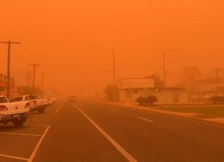 Sky over Mildura, Victoria turns red after dust storm engulfs northwestern Victoria Australia on November 21 2019, Sky over Mildura, Victoria turns red after dust storm engulfs northwestern Victoria Australia on November 21 2019 pictures, Sky over Mildura, Victoria turns red after dust storm engulfs northwestern Victoria Australia on November 21 2019 videos