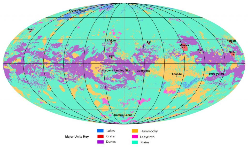 new map of Titan, titan map, map of titan