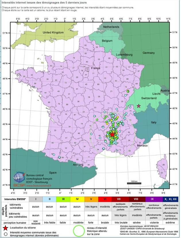 earthquake france november 11 2019, earthquake france map, earthquake map france november 2019, tremblement de terre france november 11 2019