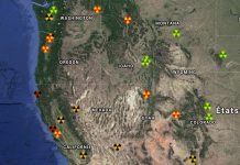 spike in radioactivity usa november false flag nuclear attack west usa, spike in radioactivity usa november false flag nuclear attack west usa map