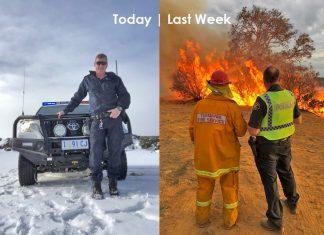tasmania from fire to snow, Tasmania weather: From fire to snow in a week, Tasmania weather: From fire to snow in a week photo