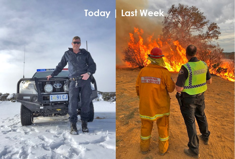 tasmania from fire to snow, Tasmania weather: From fire to snow in a week, Tasmania weather: From fire to snow in a week photo