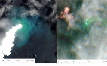 An undersea volcanic eruption in the Tongan archipelago has sunk one island and created another one that is three times larger