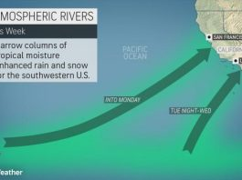 atmospheric rivers california december 2019, A double-barreled atmospheric river will slam Northern and Southern California beginning of December 2019