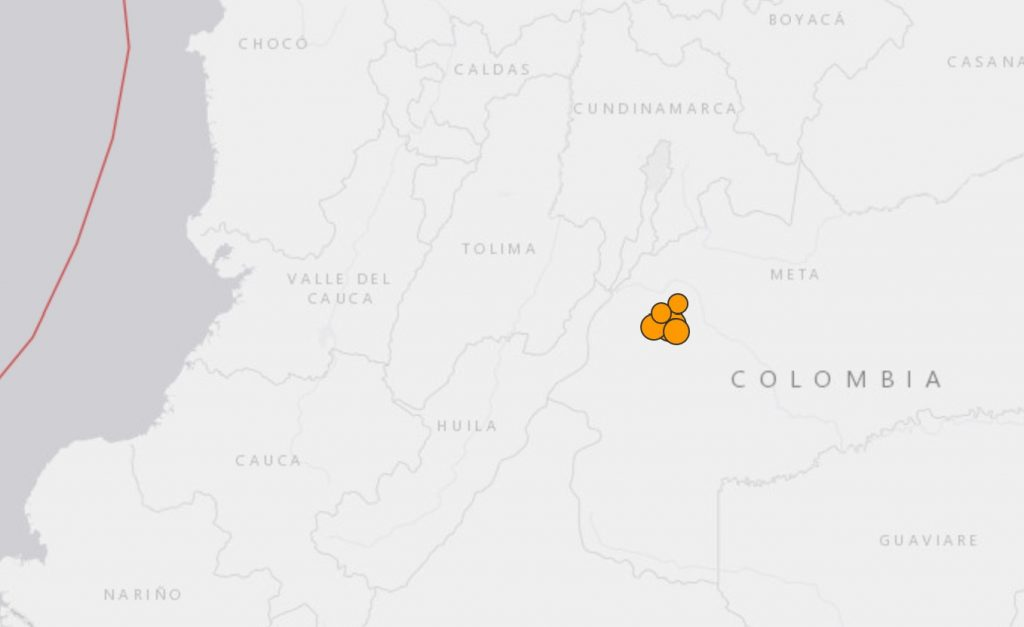 M6.0 earthquake hits Colombia o, M6.0 earthquake hits Colombia on December 24 2019 map