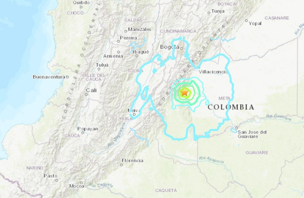 M6.0 earthquake hits Colombia o, M6.0 earthquake hits Colombia on December 24 2019 mapn December 24 2019