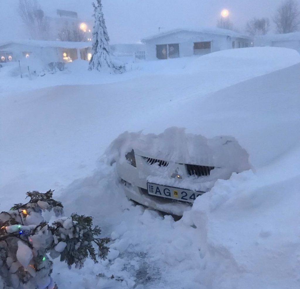 cyclone iceland, blizzard iceland, snow cyclone iceland december 2019