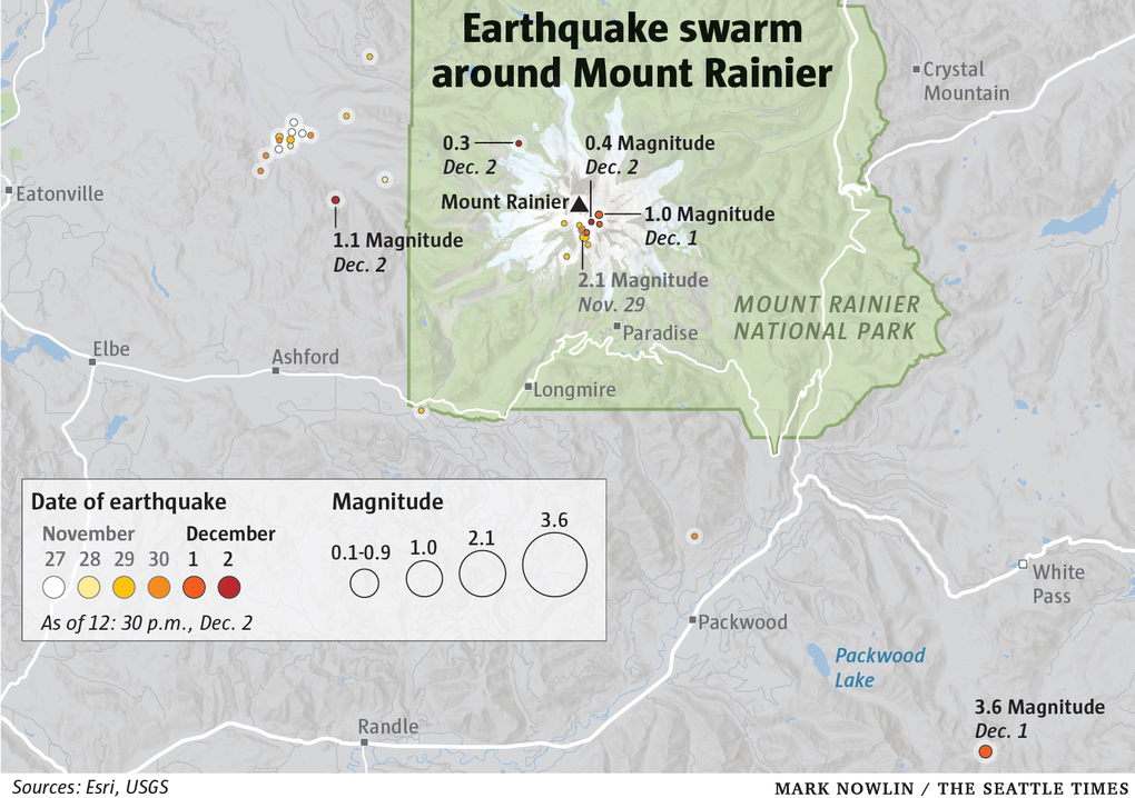earthquake swarm mount rainier december 2019, earthquake swarm mount rainier december 2019 map, earthquake swarm mount rainier december 2019 video, earthquake swarm mount rainier december 2019 warning