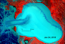 glacier surge creates ice flow, glacier surge creates ice flow video, glacier surge creates ice flow science