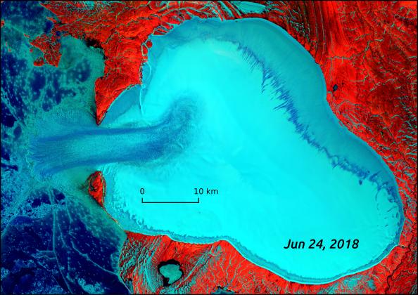 glacier surge creates ice flow, glacier surge creates ice flow video, glacier surge creates ice flow science