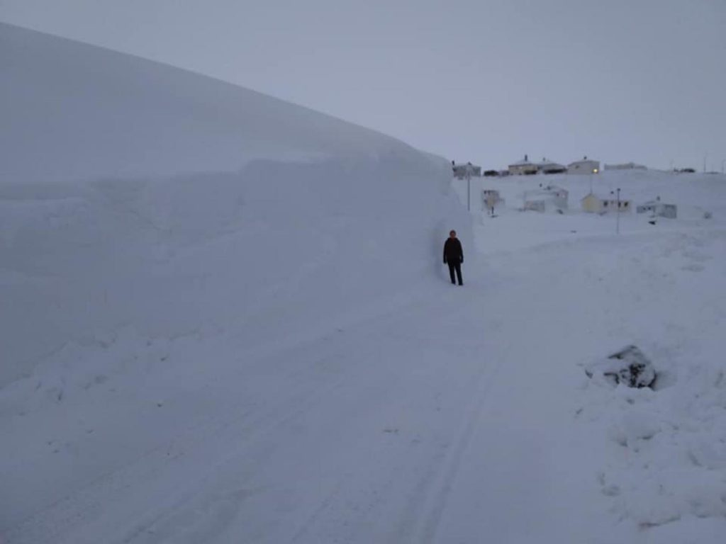 Huge snow accumulation Iceland after last week snow cyclone