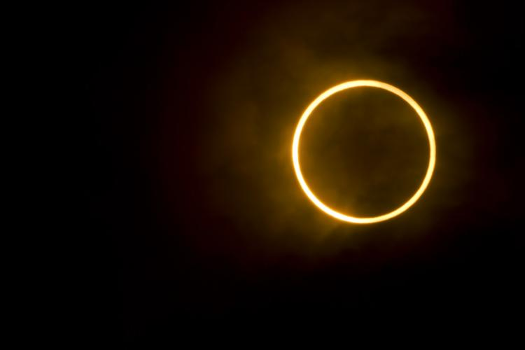 Annualr solar eclipse or ring of fire eclipse of the sun on December 26 2019