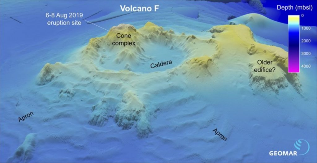 Scientists identify Volcano F as the source of the August 2019 pumice raft in Tonga