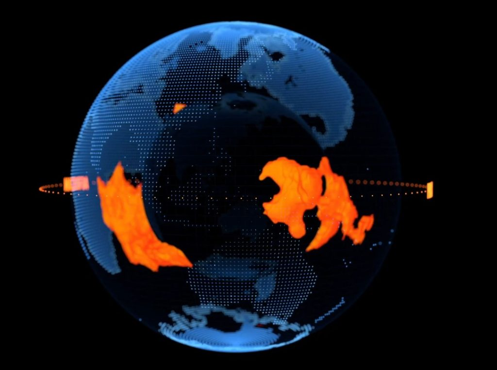 There are 2 giant giant and mysterious blobs of hot magma lurking below Africa and the Pacific at the edge of Earth's core