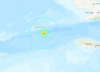 M6.1 earthquake hits off the Cayman islands on January 28 2020