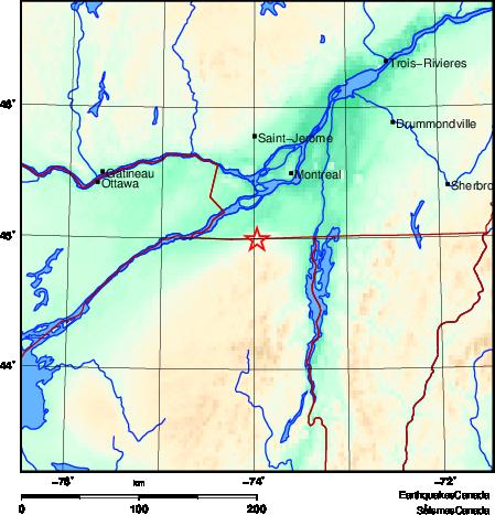 Montreal earthquake january 13 2020