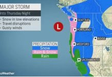 Bomb cyclone whips Northwest with ferocious winds as it moves inland