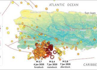 earthquake swarm puerto rico 2019-2020, earthquake swarm puerto rico 2019-2020 map, earthquake swarm puerto rico 2019-2020 swarm