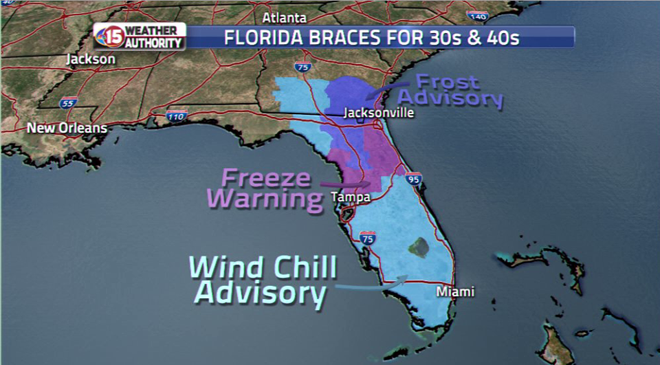 florida cold temperatures and wind chill advisories, florida cold temperatures and wind chill advisories january 22 2020, florida cold temperatures and wind chill advisories video