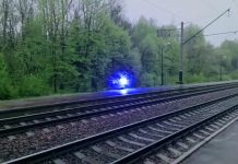 ball lightning railway tracks video, video mysterious glowing orb railway tracks,A mysterious ball of lightning appears along railway tracks somewhere in Europe, mysterious orb