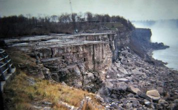 niagara waterfalls dry, no water niagara waterfalls, why did niagara waterfalls dry in 1969