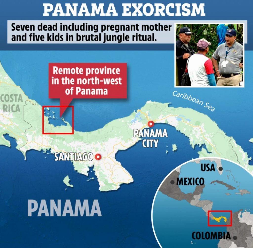 panama exorcism,Panama exorcism map, Panama exorcism ritual kills seven people, tortures 15 as authorities find bodies in mass grave