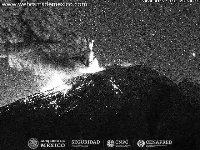 popocatepetl volcanic eruption january 2020, popocatepetl volcanic eruption january 2020 video, popocatepetl volcanic eruption january 2020 pictures