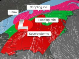 severe weather usa january 11-12 2020, Millions of Americans brace for tornadoes, flooding, strong rains and crippling ice as severe storms continue in the eastern half of the country - Southeast, Midwest and eventually the Northeast - from now into early next week