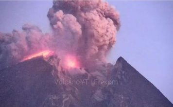 Merapi eruption february 2020 video