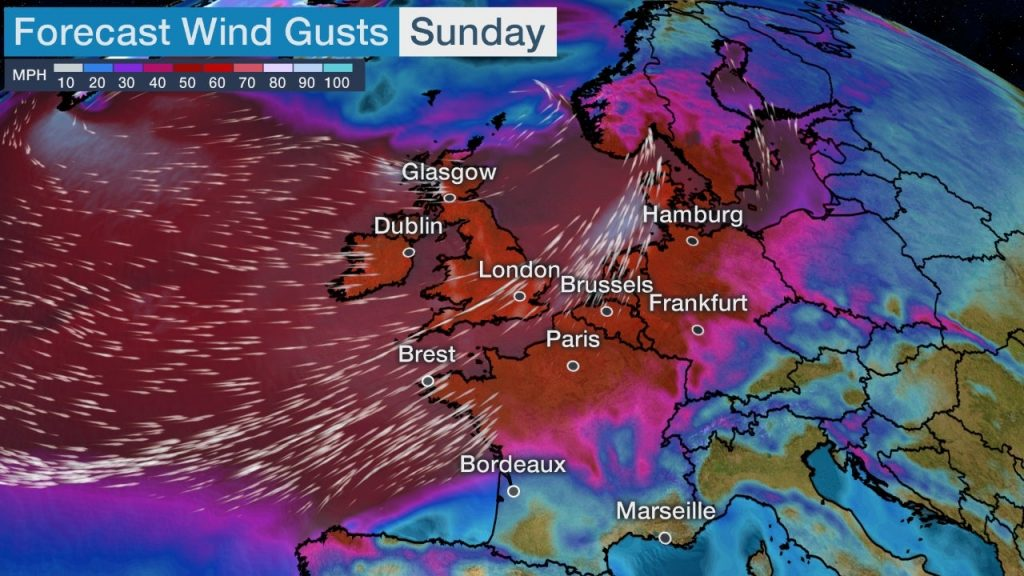 Storm Ciara, Storm Ciara map, Storm Ciara forecast, Storm Ciara winds, Storm Ciara waves, Storm Ciara impacts ireland and uk