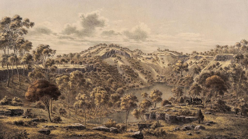 Myth and legend of ancient giants and Budj Bim volcano formation in Australia