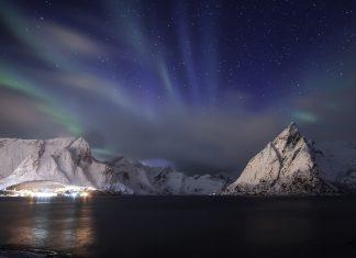 blue aurora, blue northern lights, blue aurora norway lofoten, blue aurora norway lofoten february 2020
