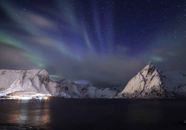 blue aurora, blue northern lights, blue aurora norway lofoten, blue aurora norway lofoten february 2020