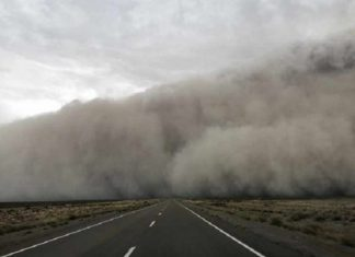 chubut temporal, chubut argentina temporal video,chubut dust storm wind