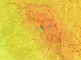 earthquake swarm long valley volcano, earthquake swarm long valley volcano february 1 2020, earthquake swarm long valley volcano february 1 2020 map