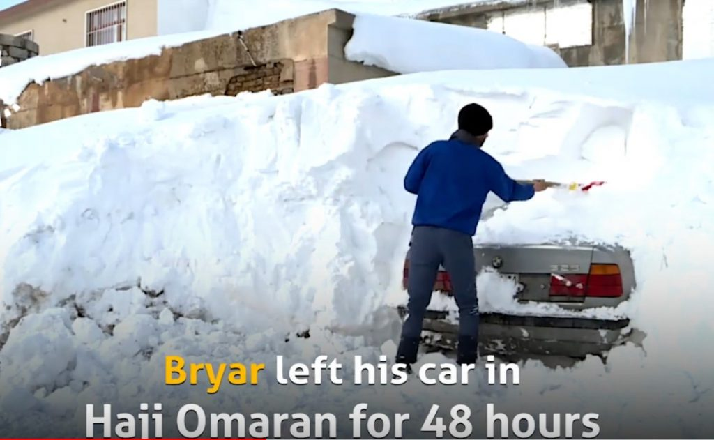 Town in iraq buried in meters of snow in 48 hours, Town in iraq buried in meters of snow in 48 hours video, Town in iraq buried in meters of snow in 48 hours pictures