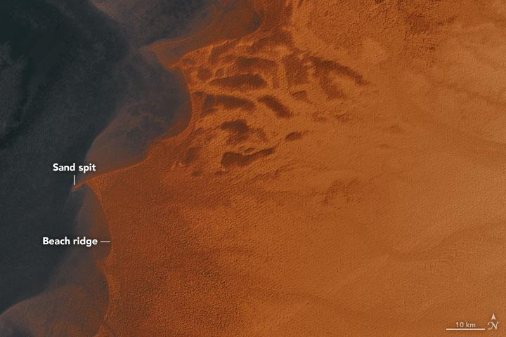 remnants of ancient lake mega chad in sahara