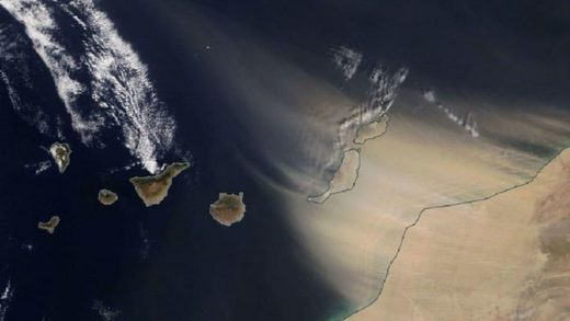 sandstorm canary islands disrupts air traffic, sandstorm canary islands disrupts air traffic video, sandstorm canary islands disrupts air traffic satellite images, sandstorm canary islands disrupts air traffic february 22 2020