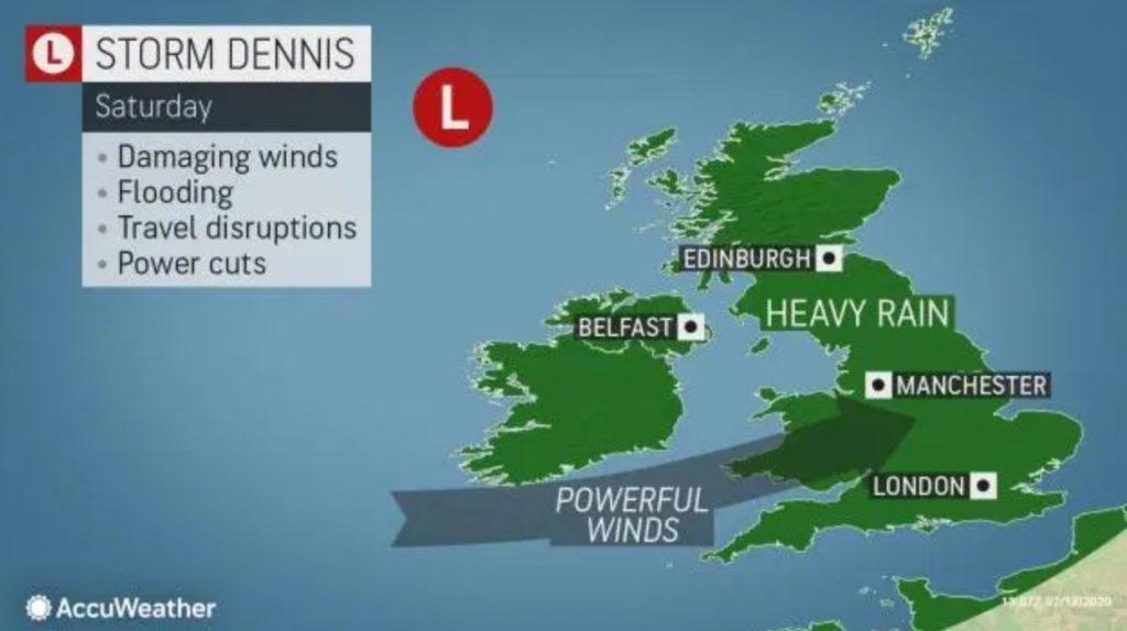 storm dennis, storm dennis bomb cyclone, storm dennis bombogenesis, storm dennis winds, storm dennis news