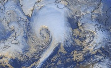 Storm Dennis explodes into a furious bomb cyclone over the Northern Atlantic Ocean, Storm Dennis explodes into a furious bomb cyclone over the Northern Atlantic Ocean pictures, Storm Dennis explodes into a furious bomb cyclone over the Northern Atlantic Ocean videos