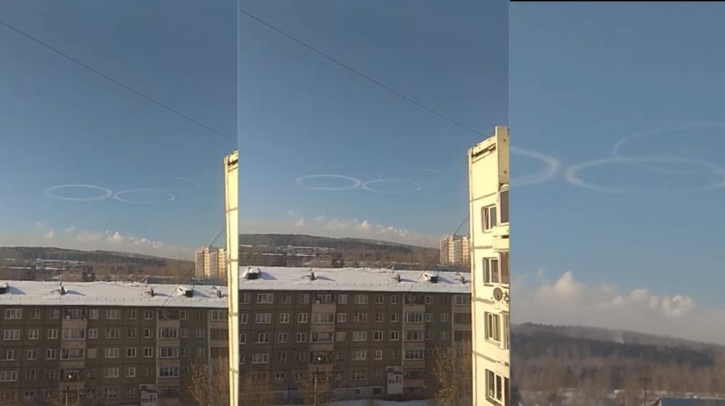 Three strange rings appear in the sky over Irkutsk, Russia on February 5 2020, three strange rings sky irkutsk russia, three strange rings sky irkutsk russia video, three strange rings sky irkutsk russia pictures