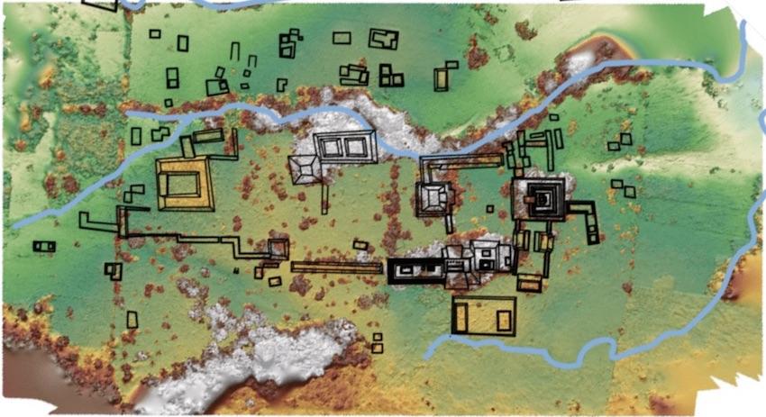 Ancient Maya Kingdom Discovered In Backyard Of A Mexican Cattle Rancher, Ancient Maya Kingdom discovered on Mexican Cattle Ranch map, map of the Ancient Maya Kingdom recently discovered in Mexico
